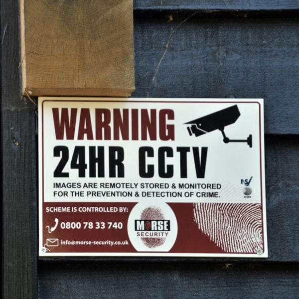 CCTV Signs Poly A4